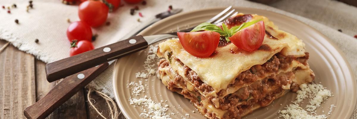 Helppo ruoka uunissa lasagne