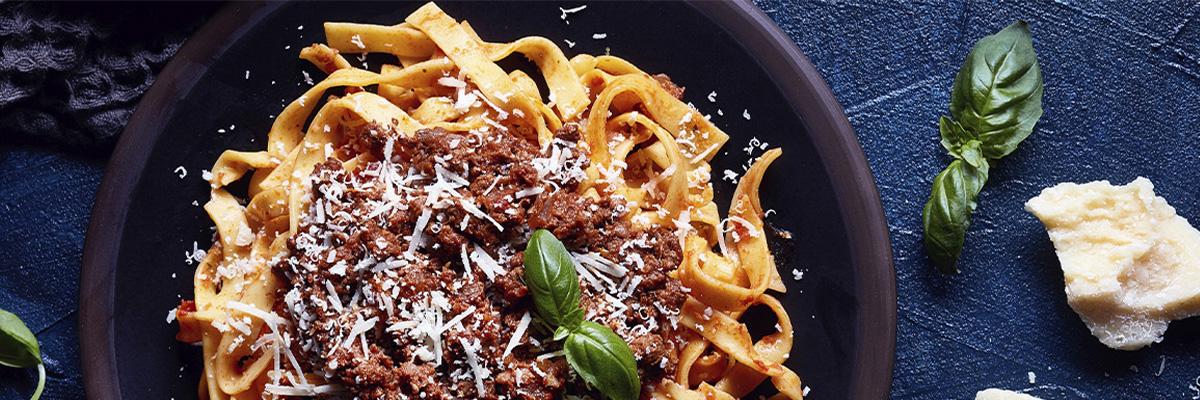 jauheliharuokia pasta bolognese