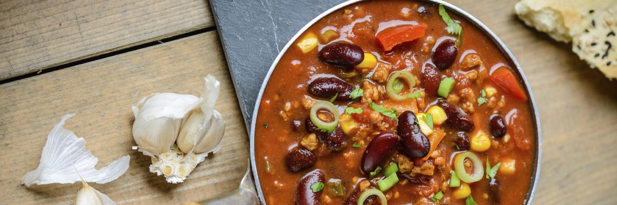 Helppoja kasvisruokia chili sin carne