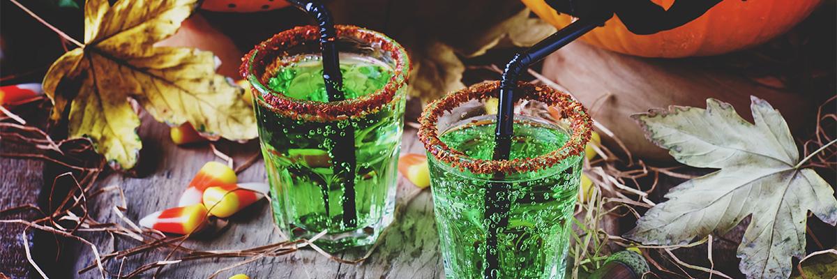 vihreä halloween booli